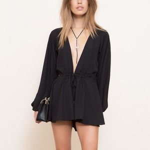 Lioness • Grey Free Love Playsuit